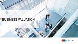 Business Valuation - Mazars Brochure